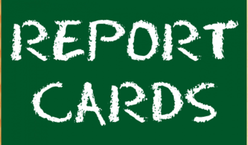 Report Cards coming home Friday, February 1st